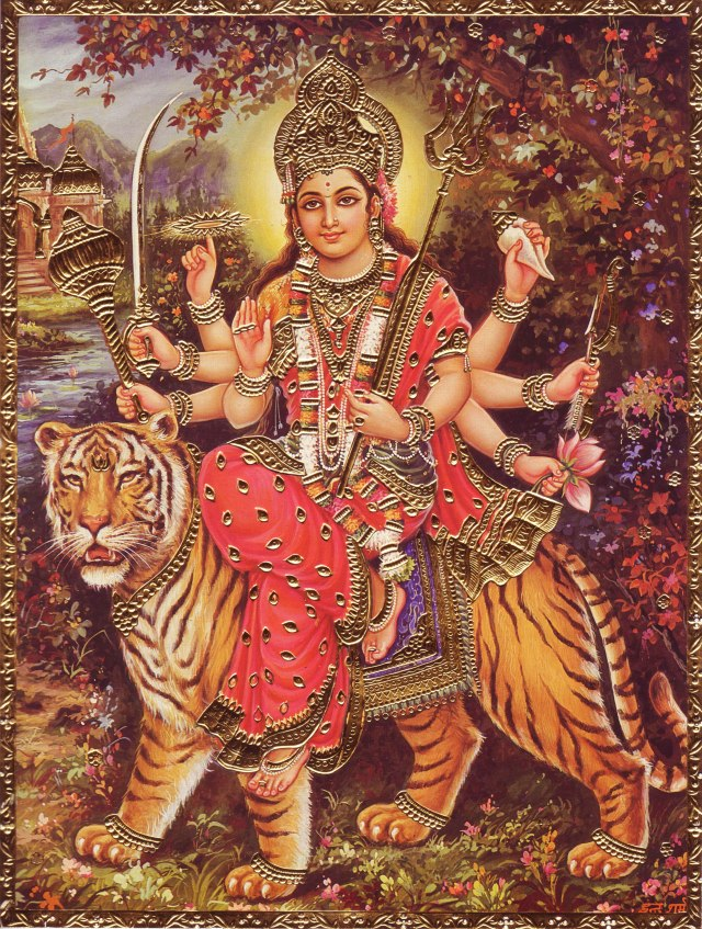 durga-and-tiger